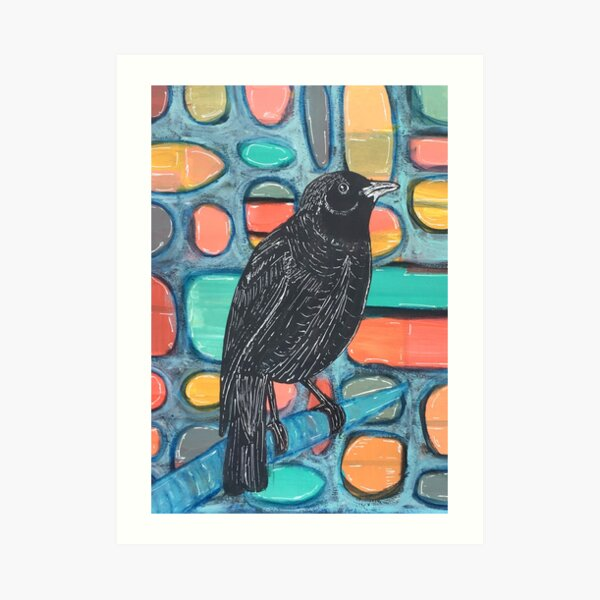 Blackbird Watcher Art Print