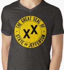 State of Jefferson Men's V-Neck T-Shirt