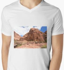 Rainbow Bridge Monument Park Men's V-Neck T-Shirt