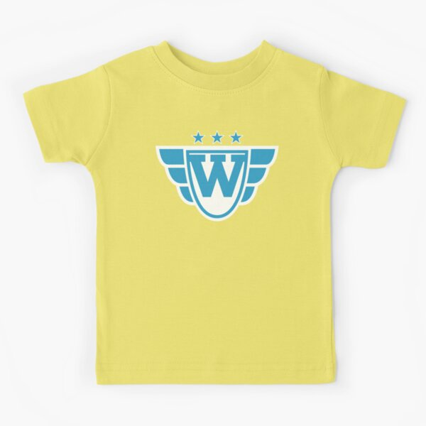 Superhero Letter W. Stars and Wings Kids T-Shirt