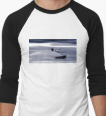 Kitesurfing - Riding the Waves in a Blur of Speed Men's Baseball ¾ T-Shirt