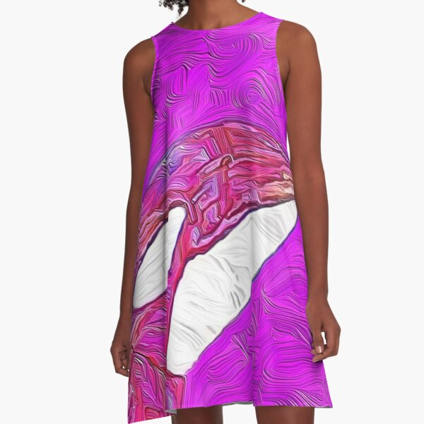 Pink Orca on Maroon A-Line Dress