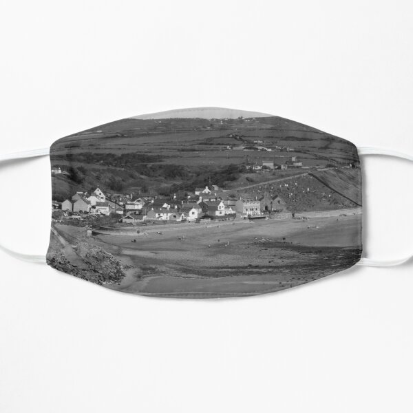 Black and White Aberdaron Bay Flat Mask