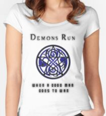 SuperWHO - Demons Run Women's Fitted Scoop T-Shirt
