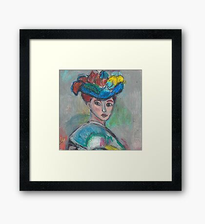 The Woman With The Hat(After Matisse) Framed Print