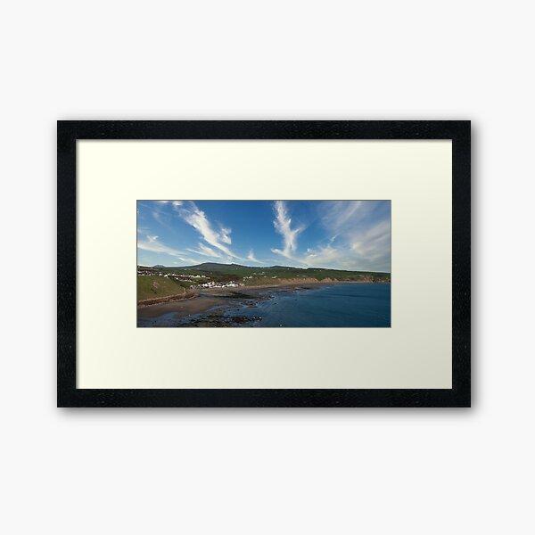 Aberdaron in the late Summer Sun Framed Art Print