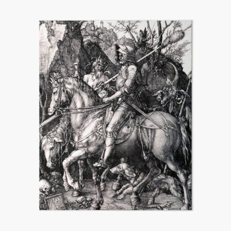 The Knight, Death and the Devil, by Albrecht Durer Art Board Print