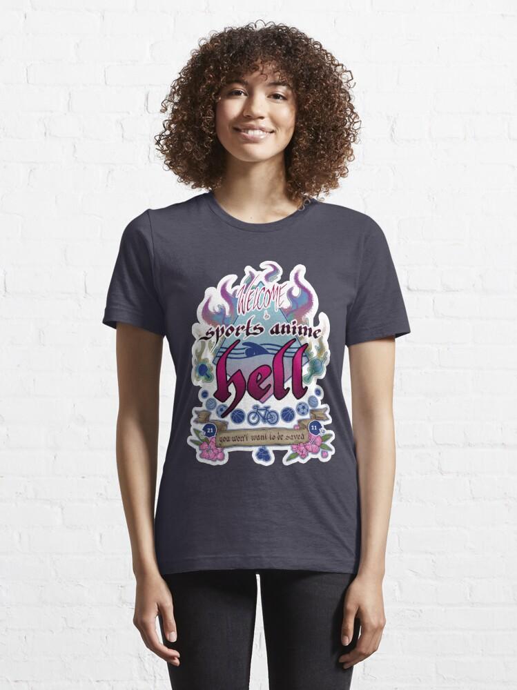 T-shirt essentiel ''Sports Anime Hell': autre vue