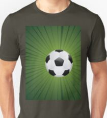Soccer Ball on Rays Background T-Shirt