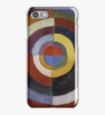 Robert Delaunay - First Disc. Abstract painting: abstraction, geometric, expressionism, composition, lines, forms, creative fusion, music, kaleidoscope, illusion, fantasy future iPhone Case/Skin