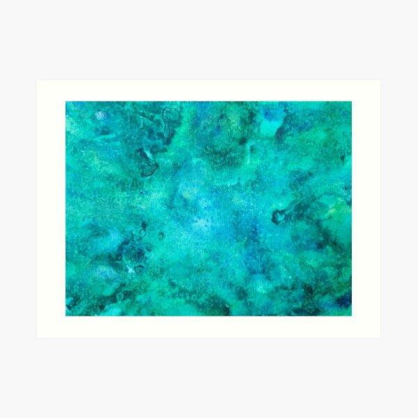 Blue Watercolor Art Art Print