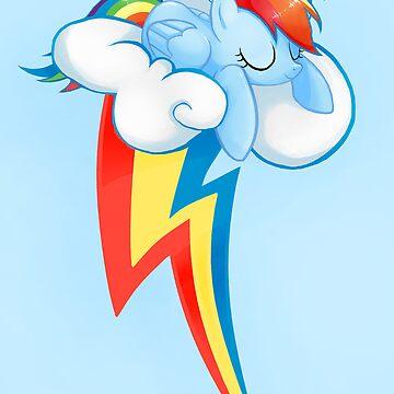 Rainbow Dash - Cutie mark  by finalflyfar7