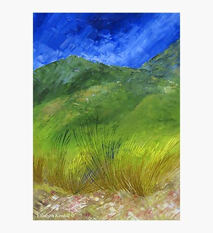 The green hills of my homeland Photographic Print