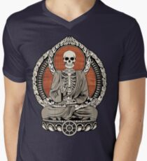Skeleton Buddha Men's V-Neck T-Shirt