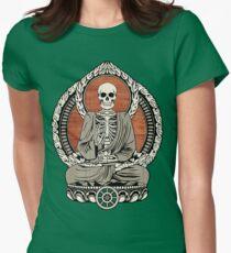 Skeleton Buddha Womens Fitted T-Shirt