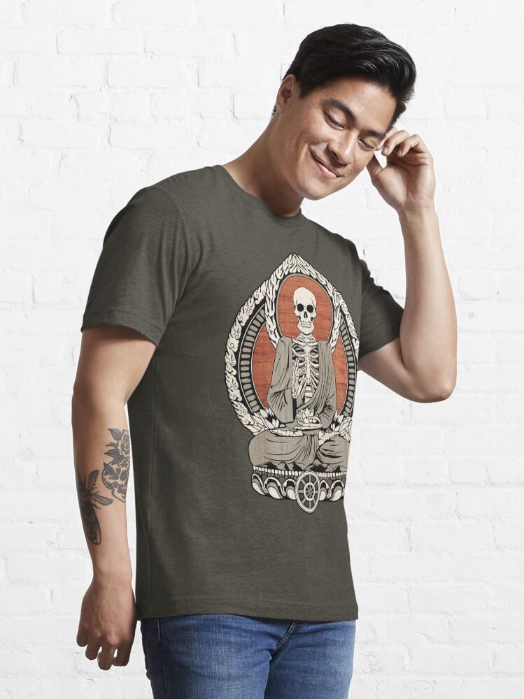Alternate view of Skeleton Buddha Essential T-Shirt