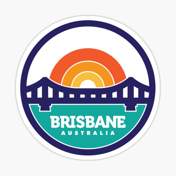 Brisbane, Australia Logo Design Sticker