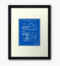 Tank Patent - Blueprint Framed Print