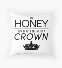 Moriarty 'Crown' Quote - Black Throw Pillow