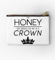 Moriarty 'Crown' Quote - Black Studio Pouch