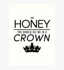 Moriarty 'Crown' Quote - Black Art Print