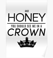 Moriarty 'Crown' Quote - Black Poster