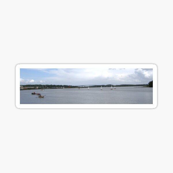 Waterworks on the River Foyle, Derry, Ireland Sticker