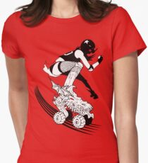 Skates of Wrath Women's Fitted T-Shirt