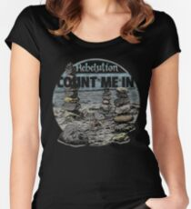Rebelution Count Me In Women's Fitted Scoop T-Shirt