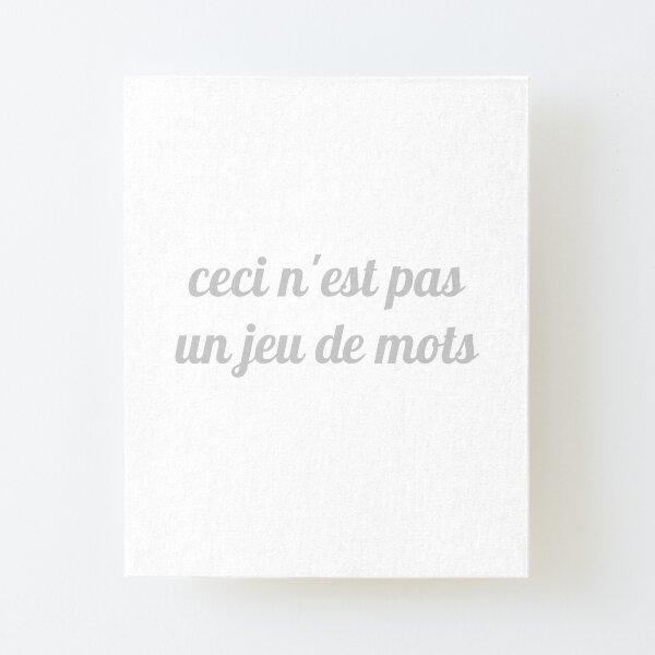 Magritte - Ceci n'est pas un jeu de mots Canvas Mounted Print