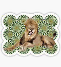 Roar Leo optical ilusion Sticker