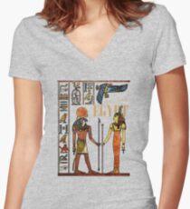Ancient Egypt | Antiguo Egipto Women's Fitted V-Neck T-Shirt