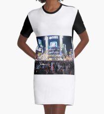 Shibuya Crossing Graphic T-Shirt Dress