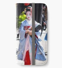 Walking in the Gion iPhone Wallet/Case/Skin