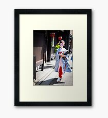 Walking in the Gion Framed Print
