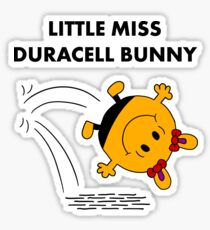 Miss Duracell Bunny Sticker