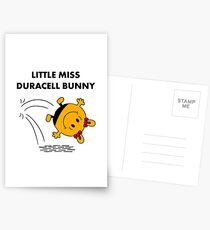 Miss Duracell Bunny Postcards
