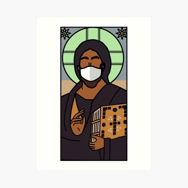 Masked Jesus Icon Art Print