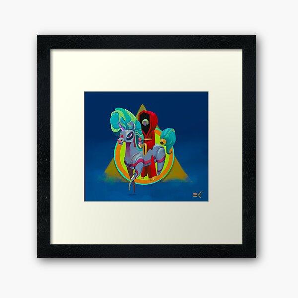 Alien Unicorn Framed Art Print