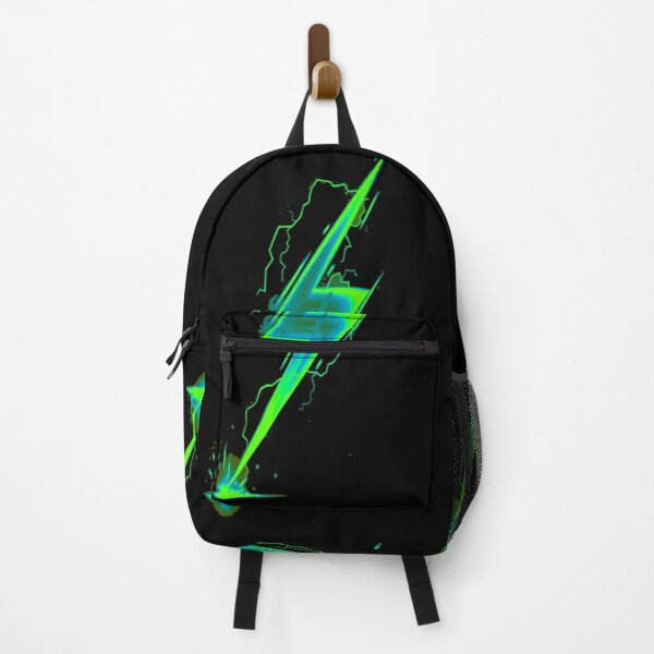Green Lightning bolt Backpack