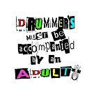 drum tee by digart