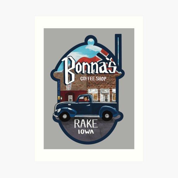 Bonna's Coffee Shop Logo Art Print