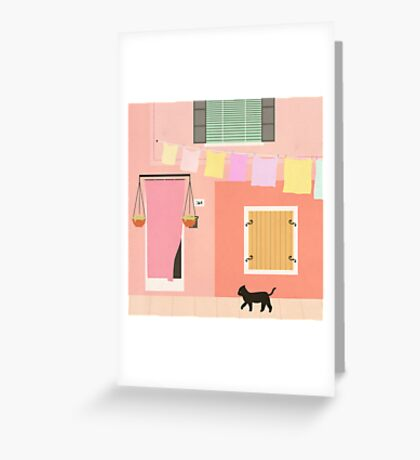 Little Pink House Greeting Card