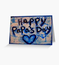 happy papa's day Greeting Card