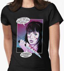 Pop Art Horror Show Womens Fitted T-Shirt