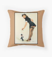 Pin-Up Girl 'Maid In Heaven' Throw Pillow
