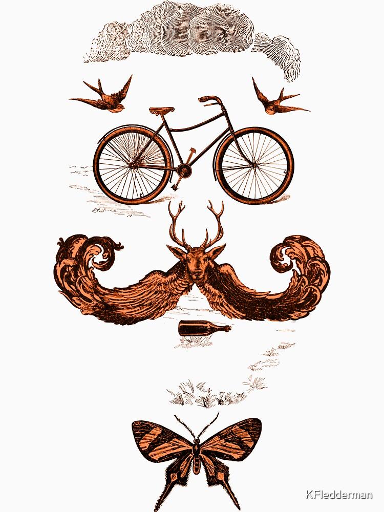 vintage bike face - orange by KFledderman
