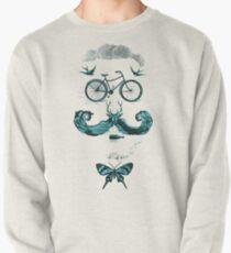 vintage bike face - blue Pullover