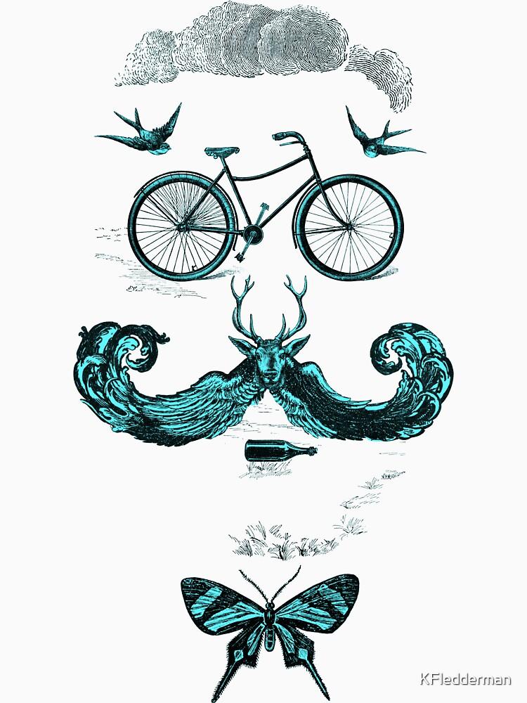 vintage bike face - blue by KFledderman