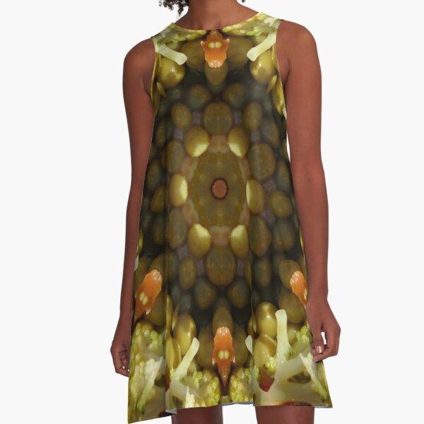 Kaleidoscopic Nature 00085 A-Line Dress
